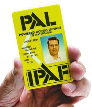 IPAF Licence.